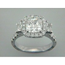 ENG.18K w/1.13CT DIAMONDS (center not included)