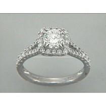 RING 18K w/0.52CT DIAMONDS (center extra)