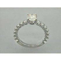 RING 18K w/0.80CT DIAMONDS (center extra)