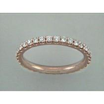 WEDDING 18K PINK w/0.82CT DIAMONDS ETERNITY