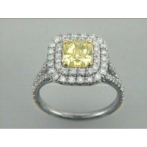 "RING 18K w/1.66CT FY/VS2 GIA + 0.94CT ROUNDS ""SPECIAL ORDER"""