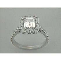 ENG. RING 18K w/0.87CT DIAMONDS (center extra)