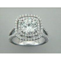 ENG. RING 18K w/0.70CT DIAMONDS (center extra)