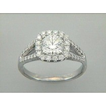 ENG. RING 18K w/0.50CT (center extra)