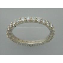 RING 14K YG w/0.91CT  DIAMOND ETERNITY