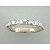 """WEDDING RING 14K YG w/1.34CT BAGUETTES """"SPECIAL ORDER"""""""