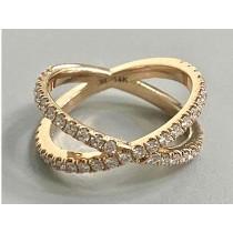 RING  14K YG w/0.70CT  DIAMONDS