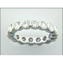 LADIES WEDDING PLATINUM w/3.22CTS DIAMONDS ETERNIT