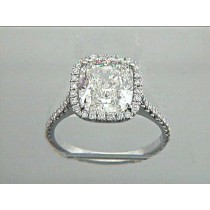 ENG. RING 18K w/3.56CT CUSHION (center extra)