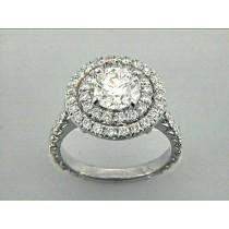 ENG. RING 18K w/1.24CT DIAMONDS (center extra)