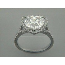 "ENG. RING 18K w/3.07CT HEART E/SI1 GIA DIAMOND ""SPECIAL ORDER"""