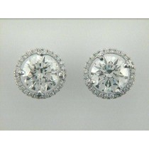 """EARRING 14K w/4.10CT F/SI1 GIA + 0.28CT DIAM'S """"SPECIAL ORDER"""""""