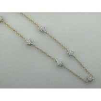 "NECKLACE 18K TWO TONE w/1.20 CT DIAMOND ""SPECIAL ORDER"""