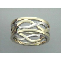 "GENT'S WEDDING RING 18K TWO TONE GOLD ""SPECIAL ORDER"""