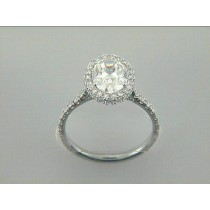 RING 18K WG w/0.62CT ROUNDS (center not included)