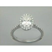 RING  18K w/0.0.51CT DIAMONDS (center extra)