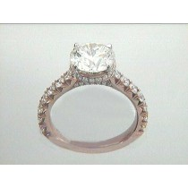 RING 18K ROSE  w/0.78CT ROUNDS (center extra)