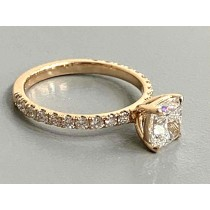 RING 18K ROSE w/0.35CT ROUNDS (center extra)
