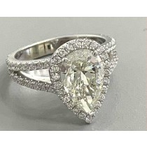 RING 18K WG w/0.64CT  DIAMONDS (center extra)