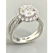 """ENGAGEMENT RING 18K WG w/1.04CT DIAMONDS (center extra) """"SPECIAL ORDER"""""""