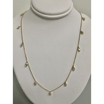 "NECKLACE 14K YG w/1.56CT MARQUISE CUT DIAMONDS ""SPECIAL ORDER"""