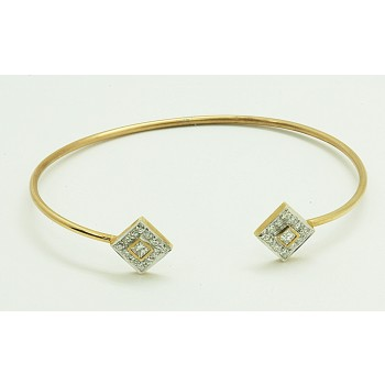 LADIES BANGLE 14K YG w/26-DIAMONDS @ 0.73CT TW