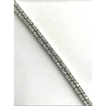 BRACELET 14K WG w/3.12CT DIAMONDS K/SI3