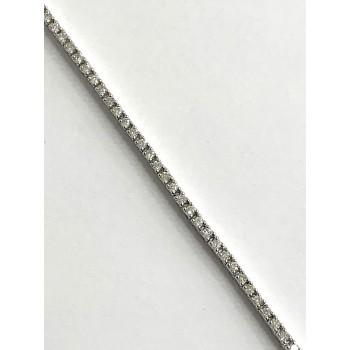 LADIES TENNIS BRACELET 14K WG WITH 1.02CT DIAMONDS G/SI2