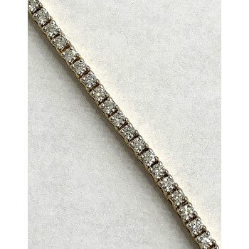LADIES TENNIS BRACELET 14K YG  w/3.00CT DIAMONDS