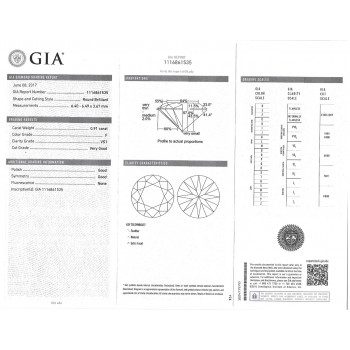 0.91 CT ROUND DIAMOND F/VS1 GIA#1116861535