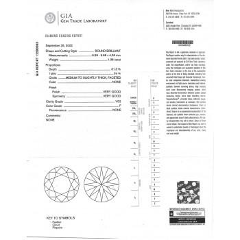 1.08 CT ROUND DIAMOND F/VS2 GIA#12293093