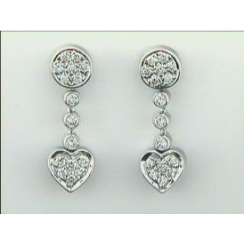 EARRING 14K w/0.92CTS DIAMONDS CLOSE-OUT