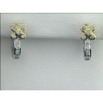 EARRING 18K w/0.33CTS DIAMONDS CLOSE-OUT
