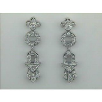 EARRING PLAT. w/0.43CTS DIAM'S CLOSE-OUT