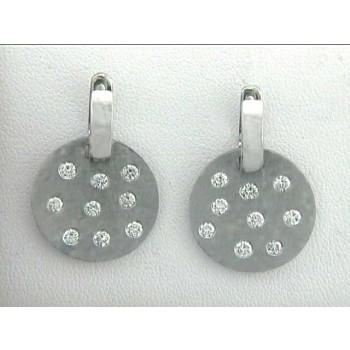 EARRING 14K w/1.12CT DIAMOND DROP