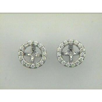 EARRING JACKET 14K WG w/0.19CT DIAMONDS