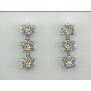 EARRING 18K w/0.48CT YELLOW +0.18CT DIAMONDS