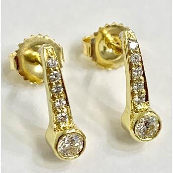 EARRINGS 18K Y.G w/0.55CT DIAMONDS