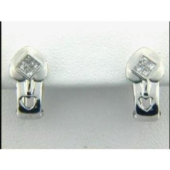 EARRING 18K w/0.42CTS DIAMONDS HUGGIES