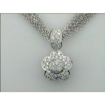 NECKLACE 14K  w/1.31CTS DIAMONDS (with no chain)
