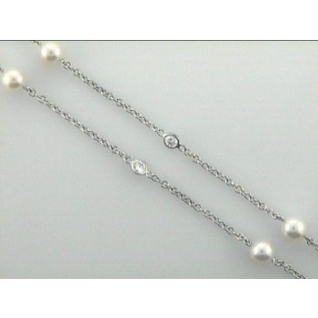 NECK 14K w/2.69cts + PEARLS DIAMONDS BY THE YARD