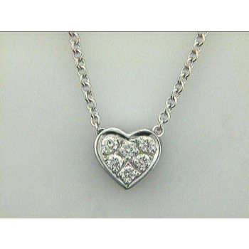 NECKLACE 14K w/0.19CTS DIAMONDS HEART DAYTIME
