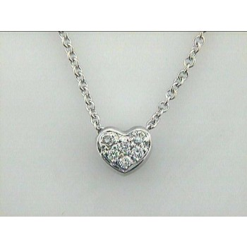 NECKLACE 14K w/0.17CTS DIAMONDS HEART