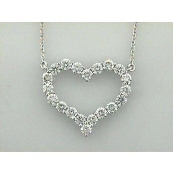 "NECKLACE 18K w/1.82 CTS DIAMOND HEART ""SPECIAL ORDER"""