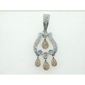 "PENDANT 18K w/0.20CTS DIAMONDS ""CLOSE-OUT"""