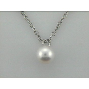 PENDANT 14K w/ 7MM WHITE PEARLS