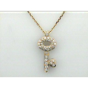 "PENDANT 14K w/0.20CTS DIAMONDS ""CLOSE-OUT"""
