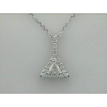PENDANT 14K w/0.28CT TRILLION + 0.22CT DIAMONDS