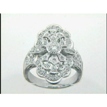 """RING PLATINUM w/0.80CTS DIAMONDS """"CLOSE-OUT"""""""