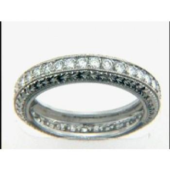WEDDING PLATINUM w/0.78CTS DIAMONDS ETERNITY